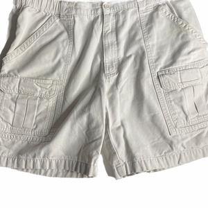 Savane Light Beige Cargo Shorts Pockets Size 38